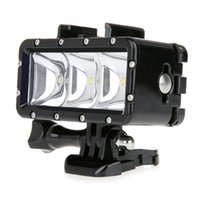Wholesale Led For Gopro - Camera LED Video POV Flash Fill Light Night Light Waterproof High Power Dimmable For GoPro Hero 4 3+ 3 2 1 W2208A