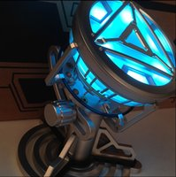 ark lighting - New American anime figure ABS model toys Iron Man Tony Heart Reactor Ark reactor ABS Model Can emit light CM