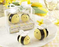 bee baby shower favors - 60Set Mommy and Me Sweet as Can Bee Ceramic Honeybee Salt Pepper Shakers baby shower favors and gifts RF861
