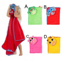 baby bath towel with hood - 10pcs Cartoon Kids Hooded Towels Animal Printing Baby Bath Towel With Hood Tiger Elephant Cow Dinosaur Children s Bathrobes Newborn Towels