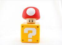 mario bros toy - Super Mario Bros Toys The Question Mushroom Figure Coin Box Piggy Bank with Game Sound