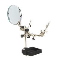 Wholesale TU1090 X Third hand Tool with Magnifying Glass SMD Soldering Tool Helping Holder