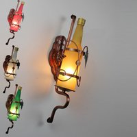 beer light fixtures - Iron Classical New Modern Frosted Glass Beer Bottle Wall Lamp Metal Frame Club Lighting Fixture gangway wall light