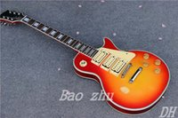 Wholesale Custom Aged Cherry Burst Pickups Chinese Handmade Electric Guitar In Stock