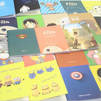 journal and notebook - korean Stationery New vintage style Superheroes and other Cute Cartoon Series Creative Notebook Paper Notepad Scratchpad