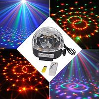 Wholesale New arrival Voice activated RGB led Crystal Magic DJ Party Light Stage Lighting with USB Ball Effect light