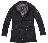 2016 estilo de la moda de alta calidad de color sólido sirve la chaqueta delgada roadmaster Roadmaster encerado de la chaqueta de los hombres M-XXXL