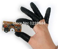15031011 anti static latex gloves - Black Latex finger cots Size M Workplace safety supplies Safety Gloves latex Wear resistant Anti static fast delivery