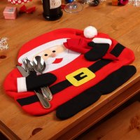 big dinner table - Big Promotion Christmas Santa Claus Placemats Mat Place Mat Pads With Napkin Dinner Dining Table Christmas Supplies Decorations L0043