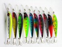 Wholesale Cheap New Set Plastic Moribund State Simulation Minnow Tackle Fishing Lure Baits With Hooks