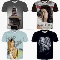 bad girl shirts - 2016 new summer D t shirt in Women s t shirts Rihanna Marilyn Monroe Printer Lana Del Rey Sexy Galaxy bad Girl Harajuku Men top
