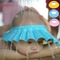 Wholesale 1Pcs Soft Adjustable Baby Kids Children Shampoo Bath Shower Cap Hat Baby Shampoo Cap Wash Hair Shield