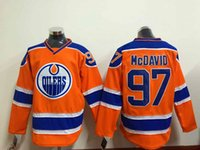 Wholesale Newest Orange Oilers Connor McDavid Hockey Jerseys Cheap Hockey Wear Professional Athletic Shirts Embroidered Sports Team Uniforms