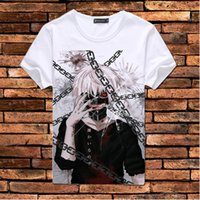 Wholesale Hot Tokyo Ghoul japanese anime t shirt t shirt scouting legion clothes tee shirt Ken Kaneki short sleeve T shirt