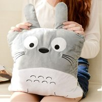 best polypropylene - 2015 New arrival Hot sale best quality Plush toys totoro A rectangle his hand Warm hands hold pillow doll AF0101