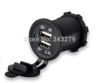 Wholesale Waterproof USB Car Motorcycles Charger Adapter Socket V Outlet Power Car Marine
