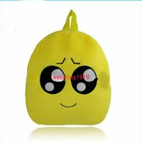 Wholesale Lovely Emoji Smiley Kid School Bags children yellow Backpacks New style Fashion Via FedEx ship