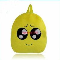 Wholesale Lovely Emoji Smiley Kid School Bags children yellow Backpacks New style Fashion Via FedEx ship