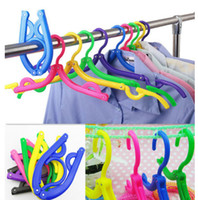 Wholesale NEW BU Traveling AU Portable Foldable Fold Plastic Clothes Hanger Hook Rack Good Quality Brand New