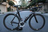 bike bicycle - black yellow carbon fiber UD racing complete road bike bicycle frame glossy matte carbon wheels groupset carbon handlebar carbon saddle tire