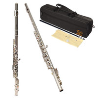 Wholesale with Case Cloth Copper Nickel Plated Closed Holes C Key Flute