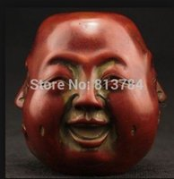 wood carving statue - SUPERB DECORATED HANDWORK OLD RESIN WOOD CARVED FACE WONDERFUL BUDDHA STATUE