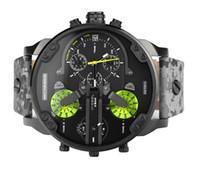 Wholesale Men s Watches hot new DZ men luxury watch brand fashion wrist watches Japanese quartz clock dial calendar leather strap