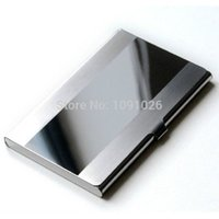 Wholesale Waterproof Stainless Steel Silver Aluminium Metal Case Box Business ID Credit Card Holder Case Cover