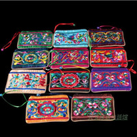 bell storage - Decorative Small Bells Zippered Jewelry Storage Pouches Embroidered Cotton Gift Packaging Bags mix color