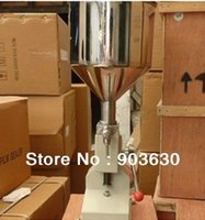 Wholesale Stainless Steel Material Manual Cream Paste Liquid Filling Machine ml bottle filling liquid machine