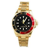 Wholesale A quality mens watches Luxury watch Famous Brand Quartz wristwatch Big Dail with Calendar Gold stainless steel band