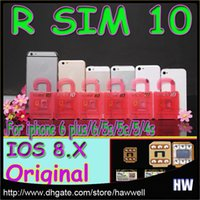 Wholesale 2015 New R SIM RSIM R SIM Unlock Card Perfect Directly Used for iPhone Plus iPhone6 S S iOS8 iOS6 T Mobile Sprint GSM WCDMA DHL