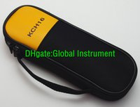 Cheap KCH16 Double Zipper Carry Soft Case Bag Use For Clamp Meter Fluke T5-1000 T5-600 302+ 303 305 321 322 323 324 324 365 LH41A