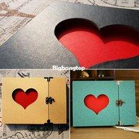 Wholesale 1509 Creative Hollowed Heart Shape Photo Album Scrapbook Sticker Diary Gift Hot New