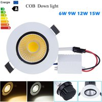 Wholesale New Dimmable Recessed led downlight cob W W W W dimmable LED Spot light led ceiling lamp Panel Light AC V V Spotlights