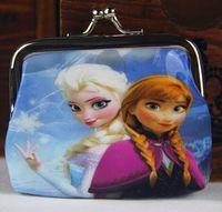 frozen party supplies - Xmas Christmas Gift baby girls Frozen Coin Purses kids Snow Queen wallet chilldren princess Elsa Anna money bag party supplies Kids gift bag