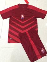 Cheap wholesale 2016 Czech National team kit Uniforms soccer jersey thai quality 2016-2017 Czech National team football Uniforms soccer jersey