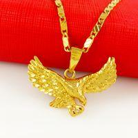 eagle pendant - 24K gold filled Jewelry Male Necklace Ambition big eagle pendant