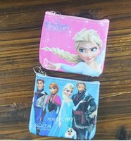 Wholesale Children Purse Baby Bags FROZEN Kids Girls Wallet Frozen Elsa Anna OLAF Dairy Queen Handbag Girl Mini cartoon wallet purses AAA quality