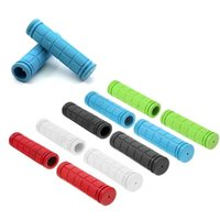 Wholesale 2015 New Bike Grips Handle Bar Cover Bike Bicycle Racing Soft Rubber High Quality Bicycling Handlebar Grip Covers