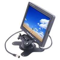 Wholesale 7 quot inch TFT LCD Color Car Rear view Monitor For DVD VCR Camera CAR DVR Remote Control