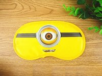 Wholesale Sleep Mask Cartoon Eyes - Despicable me 3 goggles to protect an eye mask to sleep baby boys and girls lovely slave blindfold children cartoon eye mask