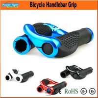 Wholesale 1Pair Aluminum and Rubber Mountain Road MTB Ergon Bar Ends Cycling Handlebar Grips Bike Bicycle Ergonomic Grips Colors