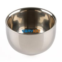 Wholesale New cm Shinning Double Layer Stainless Steel Shaving Shave Brush Mug Bowl Cup order lt no track