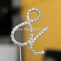 Wholesale Newest Arrival Crystal Rhinestone Alphabet Letter Monogram Wedding Cake Topper Decoration Gift