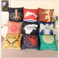 Wholesale Game of Thrones House Sigils cushions car patterns home sofa car decorations A Song of Ice and Fire pillow case