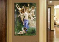 artwork angels - High Quality Panel Home Decor Wall Art Angel Oil Painting on Canvas Artwork Custom Sale Figure painting art A
