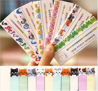 Wholesale set Mini cute animal pages paper bookmark Cartoon sticker Post It Index Sticky Notes Office school supplies