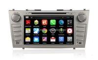 al por mayor de navegación para camry-Android 4.4 reproductor de DVD de coches para Toyota Camry 2007-2010 w / GPS de navegación Radio BT USB SD DVR estéreo de audio WIFI 1024 * 600 de pantalla