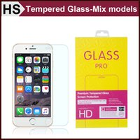 Wholesale 0 mm Tempered Glass Screen Protector For iPhone S S Plus Galaxy S7 S6 S5 S4 Note Mix models H D Premium High Quality DHL